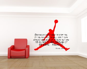 Michael Jordan Decal, Michael Jordan Quote, Basketball Decal, Michael Jordan  Art, Michael