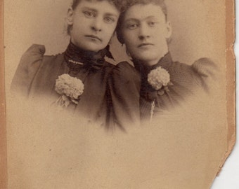 Antique Photo of Two Pretty Sisters