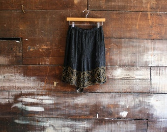 vintage 80s beaded long shorts