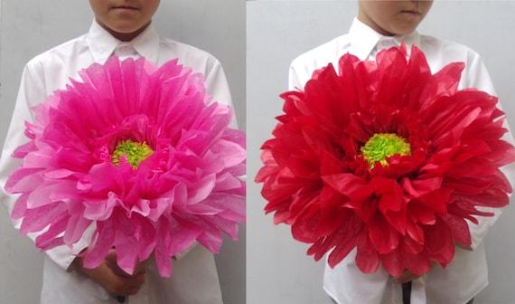 Из какой бумаги делают большие цветы