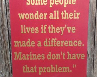Us Marines Gifts For Marines Us Marine Corps Usmc Quote Wood Sign Military Marines Marine Corps