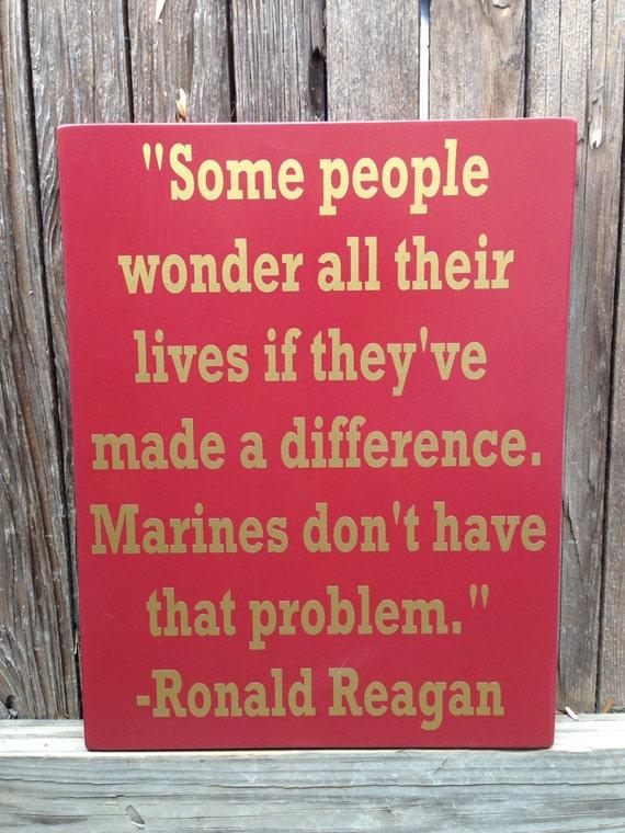 Marine Corps Quotes Best Us Marine Corps Usmc Ronald Reagan Quote Wood Sign 12 X