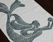 bath rug, bath mat MERMAID cotton chenille rug