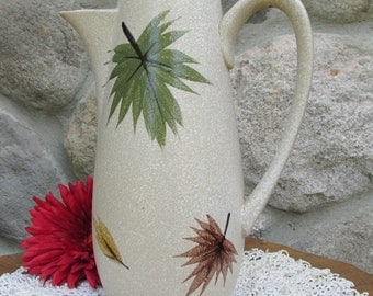 Harmony House Maple Leaf Coffee Pot  Vintage Stoneware Made in Japan