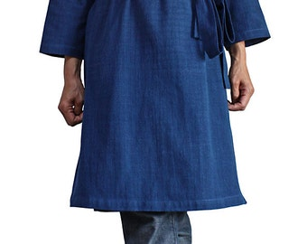 ChomThong Hand Woven Cotton Cache-Coeur Style Tunic Three Quarter Sleeve  (BFS-131-03)