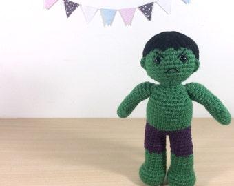 Hulk Amigurumi Crochet Plush Doll
