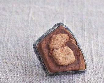 ring stone, raw ring, adjustable ring, handmade