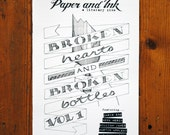 Paper and Ink Literary Zine Issue #1