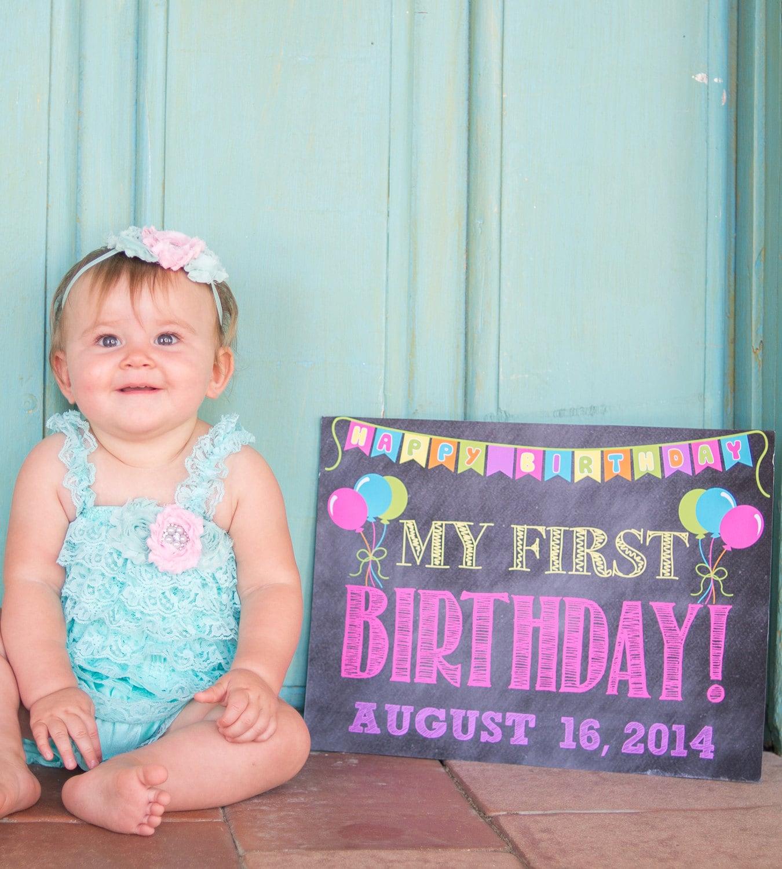 Chalkboard First Birthday Photo Prop // First Birthday Sign