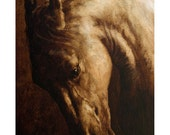 Horse Portrait by award winning artist JOHN SILVER. Personally signed A4 or A3 size Print. HO002SP