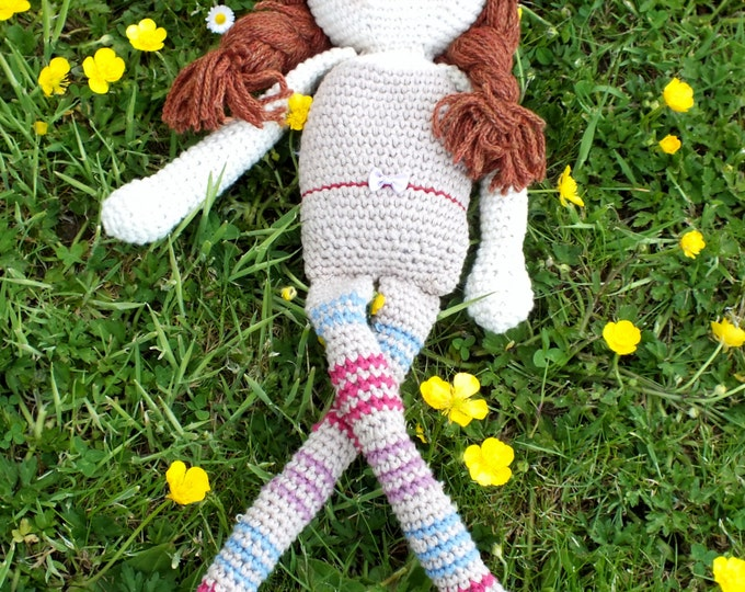 Pattern for Crochet  doll with clothes by Sixpenny Rose. Instant download