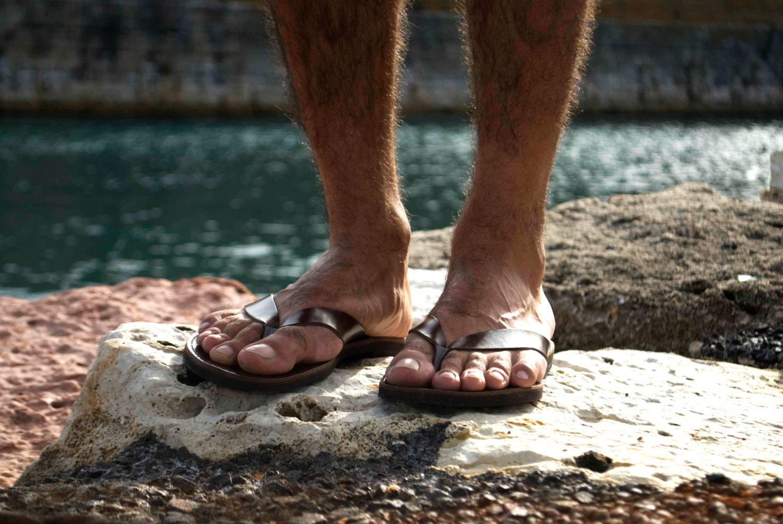 Womens sandals etsy - Mens Leather Flip Flops Dark Brown Mens Sandals
