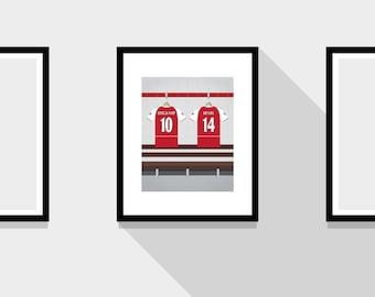 Bergkamp and Henry Great Partnerships Arsenal FC Football Print