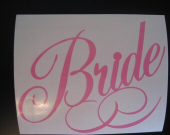 Bride Decal - Wedding Decal - Groom Decal - Bride Sticker - Wedding Day Decal - Groom Sticker - Car Decal - Wedding Gift Decal - Married