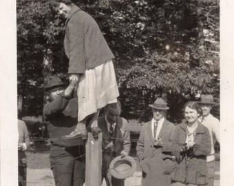 Vintage Snapshot Photo ~  Balancing Act