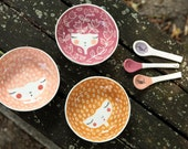 SET OF 3 - Handmade ceramic bowls - colors of your choice - serving bowl - wedding gift - kitchen decor - gift idea
