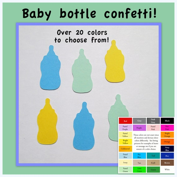 baby bottle confetti paper baby bottles baby shower big variety of
