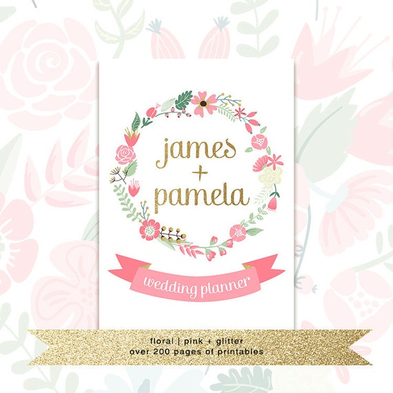 Printable Wedding Book Cover : Printable wedding planner with custom cover by prettyorganised
