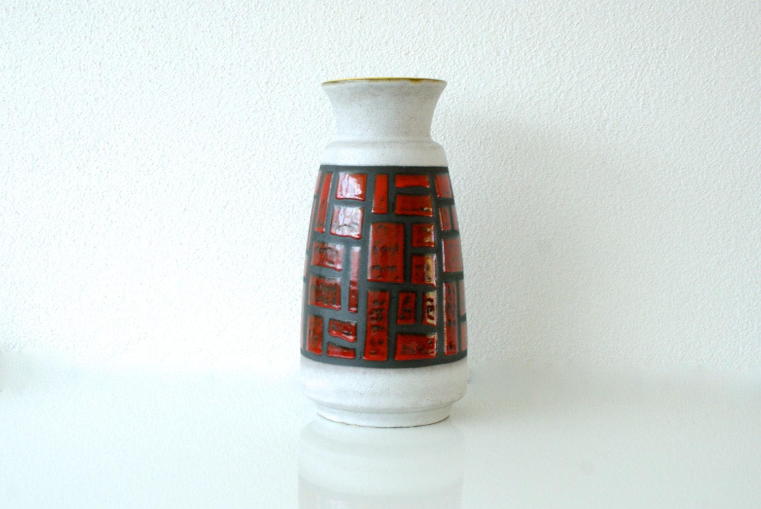 West German Pottery Extra Large Floor Vase Bay Keramik