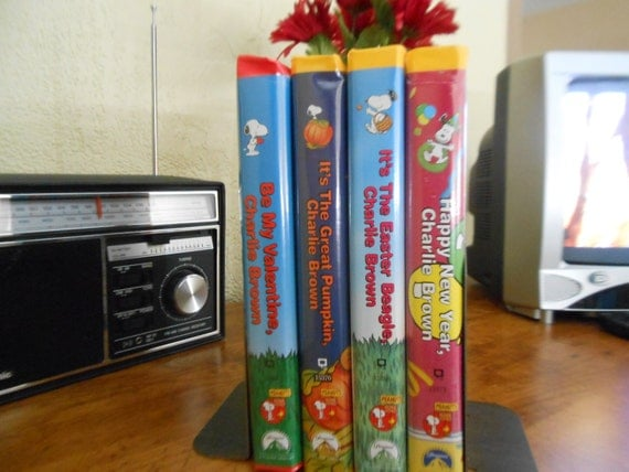 items similar to 4 vhs charlie brown movie set peanuts all seasons on etsy - Charlie Brown Valentine Video