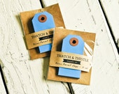 Mini Parcel Tags in Blue - 10 Count -  2.75 Inch Gift Kraft Shipping Cute Party Gift Wrapping Pretty Packaging Embellishment Small