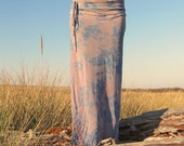 boho gypsy festival dance beach resort burnout tie dye, floral, or striped tube pencil maxi skirt with side drawstring