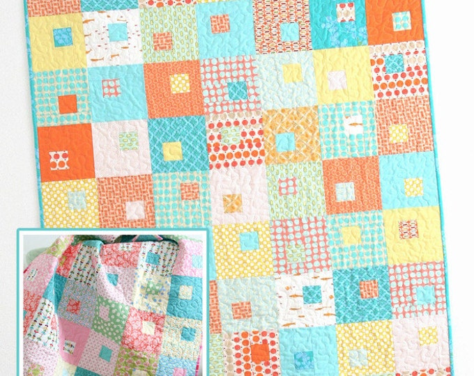 Juice Boxes Quilt Pattern #111 by Cluck Cluck Sew - 3 Sizes- Great Beginner Quilt (W737)
