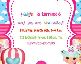 Lalaloopsy party Invitation Birthday Party Baby Shower Digital DIY