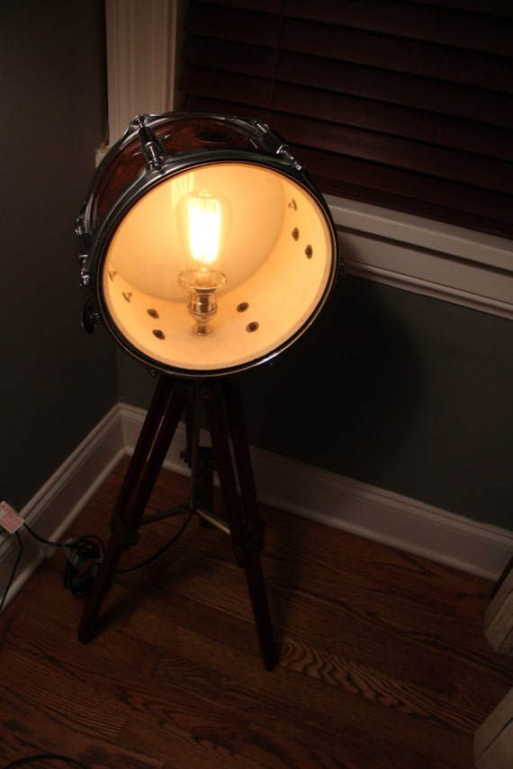 snare drum light recreation by industrialighting on etsy. Black Bedroom Furniture Sets. Home Design Ideas