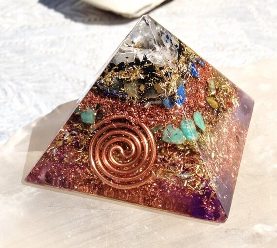 Orgone Pyramid 7 Chakra Orgonite Energy Alignment