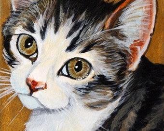"ACEO Kitten fine art Giclee print "" The foster 1"""