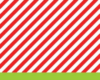 Red Diagonal Stripe with Lime Stripe Gift Tag