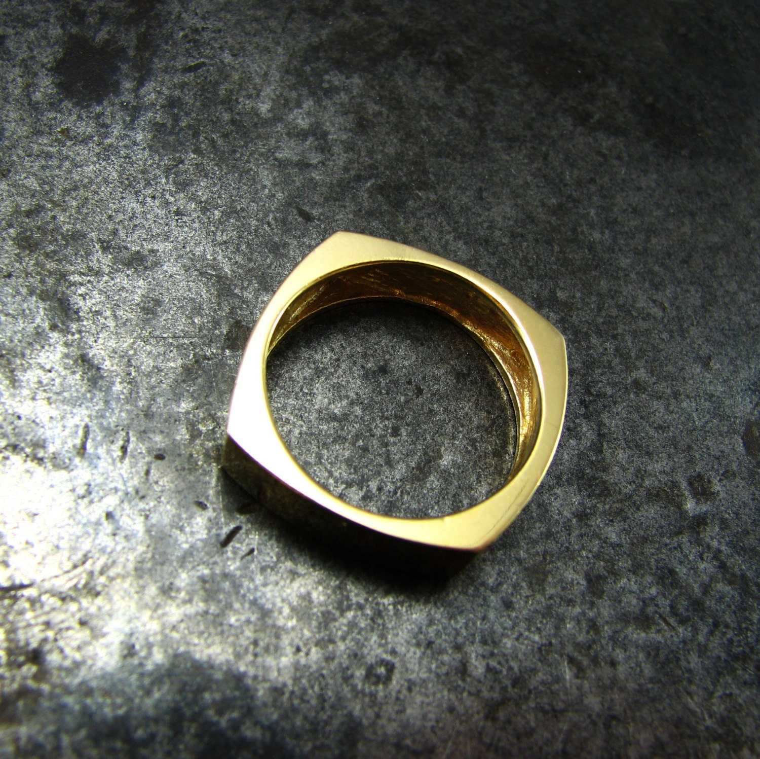 Funky Wedding Rings Funky Square Unique Gold Wedding Ring Geometric Wedding Band