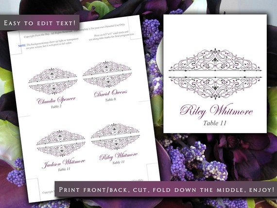 28 tent folded place card template templates printable place cards for inkjet or laser
