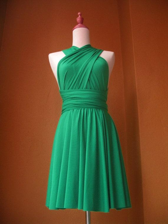 Jade green knee length bridesmaid dress wedding by for Jade green wedding dresses