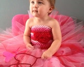Valentine Sweetheart Tutu with matching headband - GingerLyBoutique