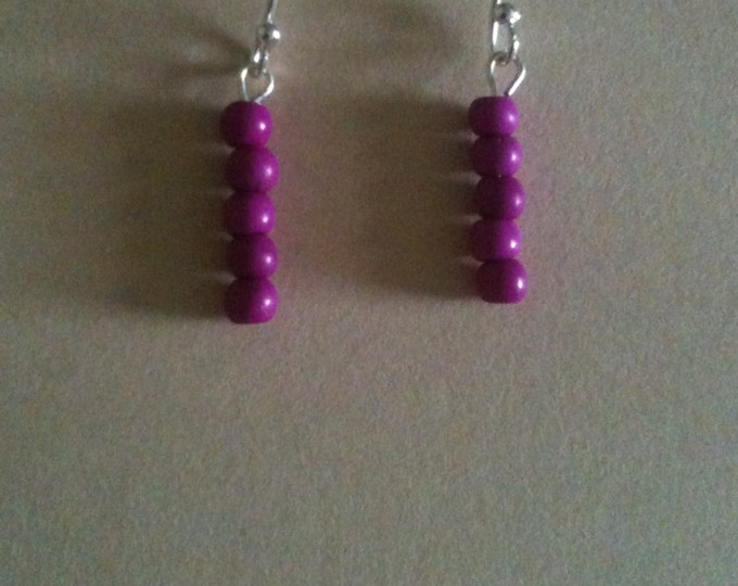 small dyed stone earrings