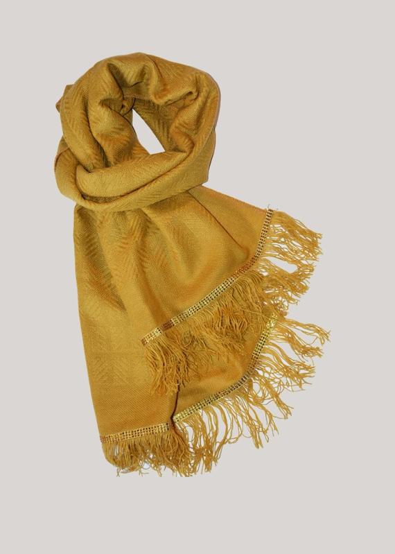 items similar to jewelry scarf mustard yellow scarf