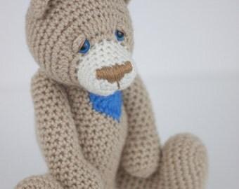 Crochet Bear Amigurumi Toy (Braxton) - Made to Order