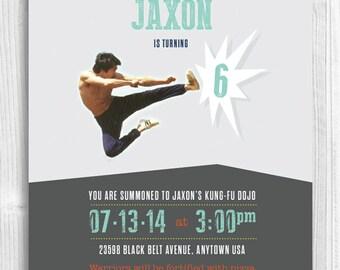 Kung-Fu Karate Printable Birthday Invitation
