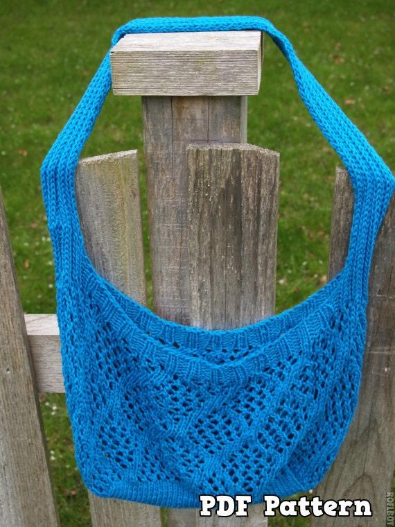 Items similar to PDF Knitting Pattern Emily Market Bag Knit Shopping Beach Ba...