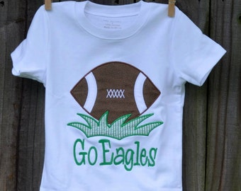 Personalized Football Applique Shirt or Onesie