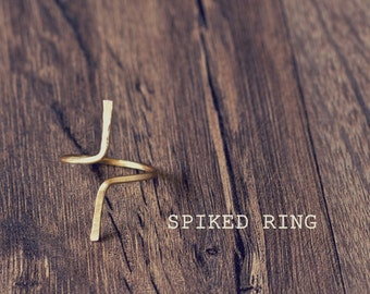 Spiked Ring, Adjustable Spike Ring, Edgy Ring, Modern Ring, Edgy Spike Ring, Simple Spike Knuckle Ring, Adjustable Ring