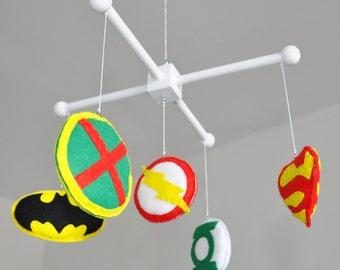 Crib mobile - Nursery decoration - Superheroes