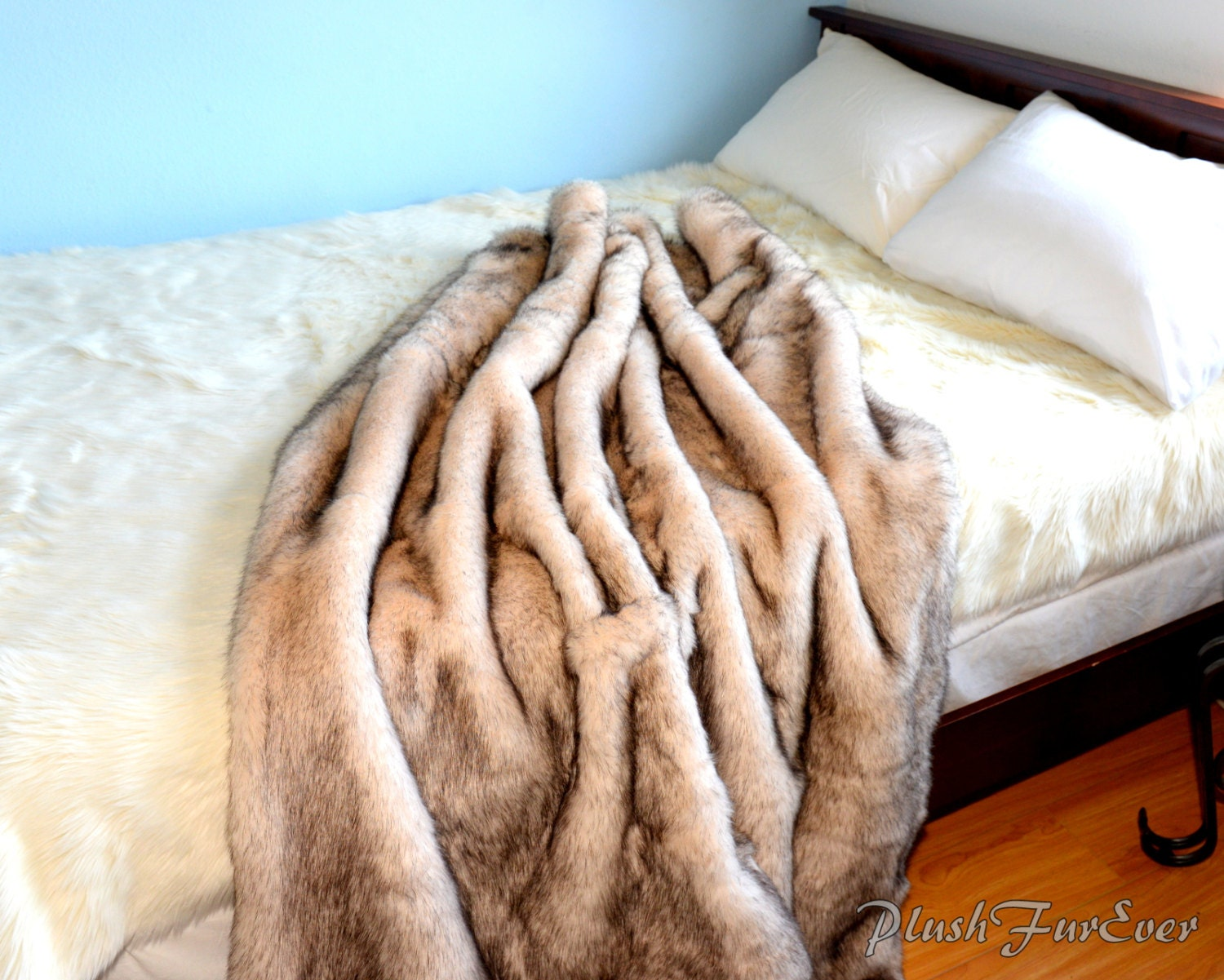 100 high quality faux fur throws furniture brown and dark b