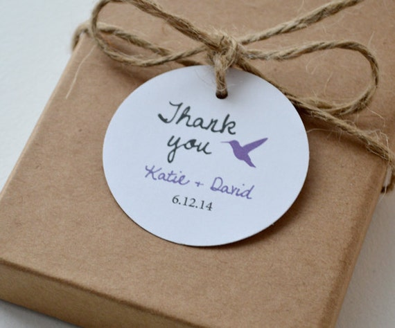 Round Wedding Gift Tags : Hummingbird Round Matte Label Tags - Custom Wedding Favor & Gift Tags ...