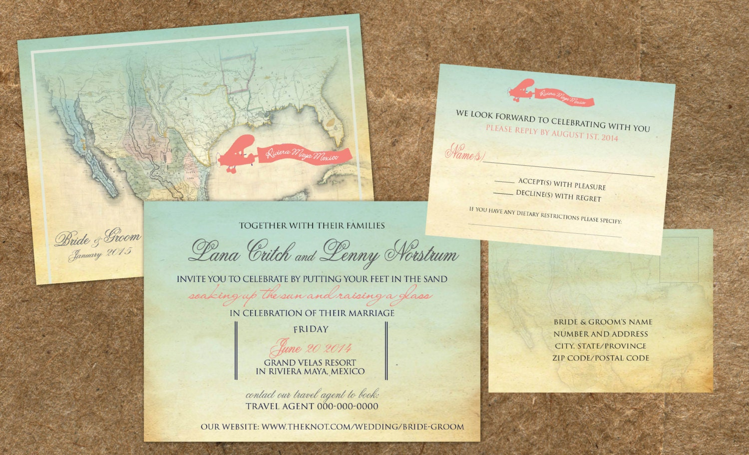 Destination Wedding Invites as beautiful invitation sample