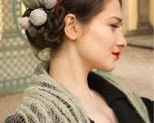 lace triangle shawl - lightweight shawl - design shawl - lace shawl - pale green shawl - romantic shawl