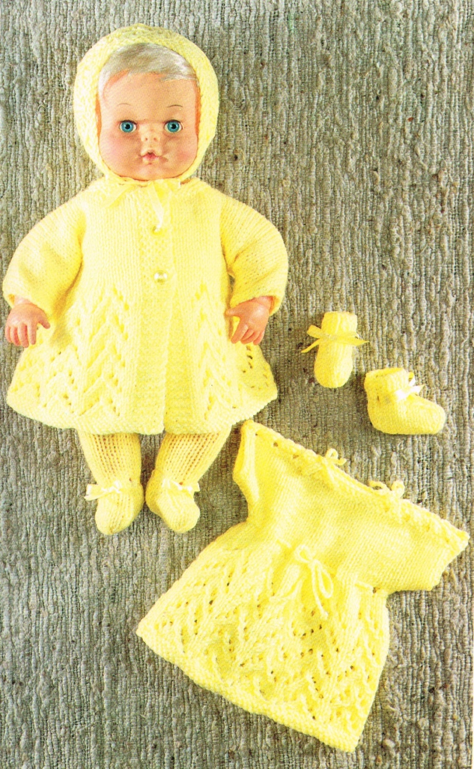 Knitting Patterns For Dolls Clothes 12 Inch : Dolls clothes knitting pattern for 12 & 16 doll.