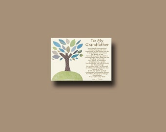Grandfather gift - Personalized gift for Grandfather - Grandpa Gift - Gift from Grandchild to Grandfather - Grandfather Keepsake